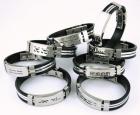 Pulseras de acero y caucho 3 mm con banda de caucho-plata - mejor precio | unprecio.es