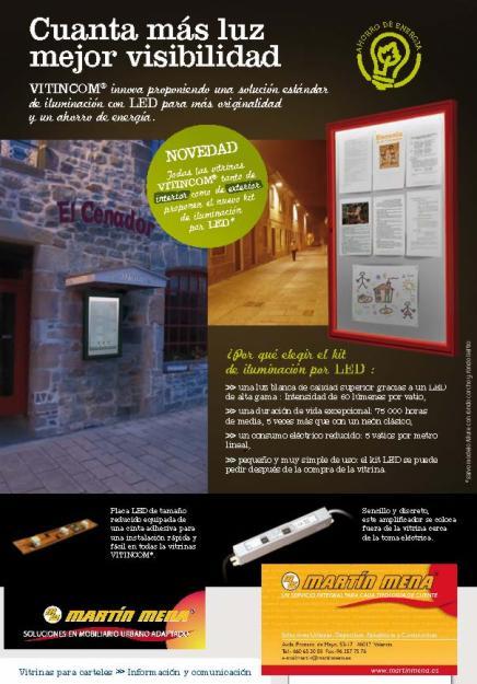 Damos luz a tu negocio novedad vitrinas de exterior con for Precios iluminacion exterior