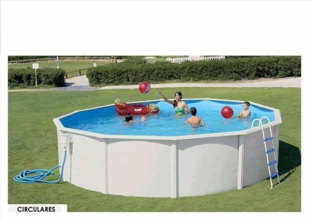 Piscina de madera o chapa de superficie desmontables for Piscina 90cm altura