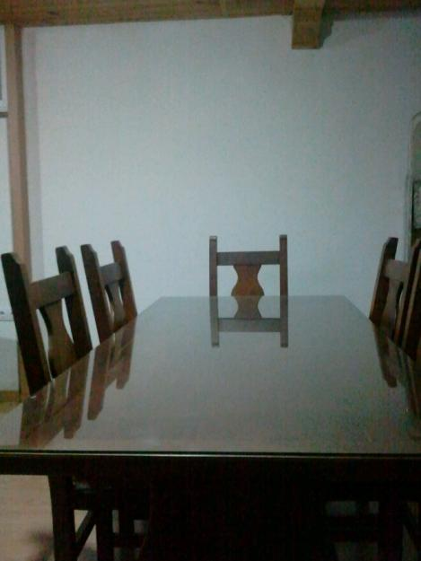 Juego de mesa y 6 sillas de algarrobo 206035 mejor Sillas de algarrobo precios