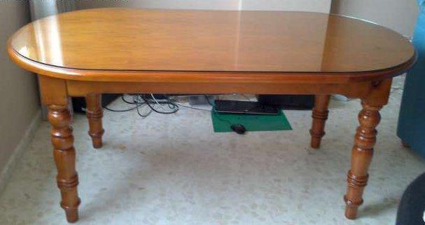 Conjunto de mesa y sillas de salon o cocina de madera for Mesa 4 sillas homecenter