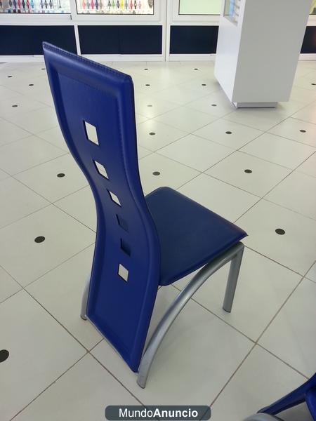 Sillas ergonomicas modernas de lujo azul liquidacion for Sillas ergonomicas precios