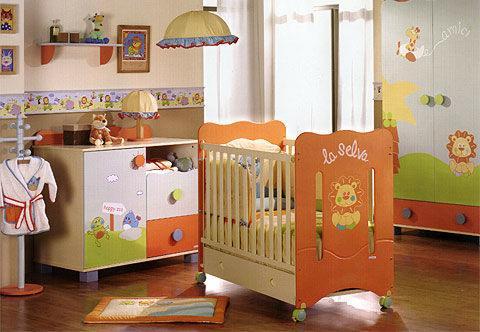 Colorida habitación para bebés