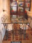 Mesas y sillas de forja antigua - mejor precio | unprecio.es