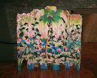 Biombo madera multicolor, tallado y pintado a mano en Bali, Indonesia - mejor precio   unprecio.es