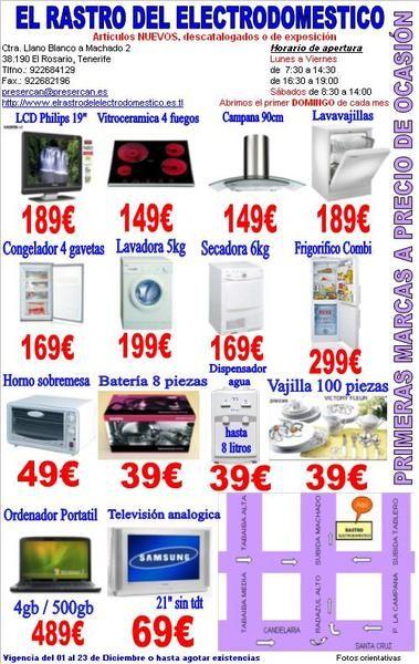 El rastro del electrodomestico mejor precio - El rastro del electrodomestico ...